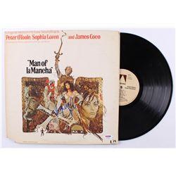 "Sophia Loren Signed ""Man of La Mancha"" Vinyl Record Album (PSA COA)"