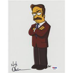 "Nick Offerman Signed ""The Simpsons"" 8x10 Photo (PSA COA)"