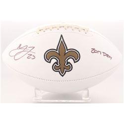 "Marshon Lattimore Signed Saints Logo Football Inscribed ""2017 DROY"" (Radtke COA)"