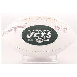 "Don Maynard Signed Jets Logo Football Inscribed ""HOF 87"" (Radtke COA)"