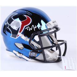 DeAndre Hopkins Signed Texans Chrome Speed Mini-Helmet (JSA COA)