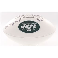 """Don Maynard Signed Jets Logo Football Inscribed """"HOF 87"""" (JSA COA)"""