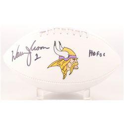 "Warren Moon Signed Vikings Logo Football Inscribed ""HOF 06"" (Radtke Hologram)"