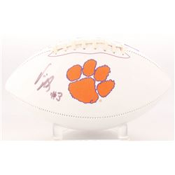 Vic Beasley Signed Clemson Tigers Logo Football (Radtke COA)