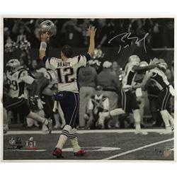 "Tom Brady Signed New England Patriots ""Super Bowl 51 Touchdown Celebration"" 20x24 Limited Edition Ph"