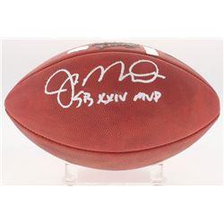 "Joe Montana Signed Super Bowl XXIV Logo Football Inscribed ""SB XXIV MVP"" (Radtke COA  Montana Hologr"