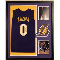 Kyle Kuzma Signed Lakers 34x42 Custom Framed Jersey (JSA COA)