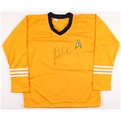 "William Shatner Signed Star Trek ""Captain James T. Kirk"" Prop Replica Uniform Shirt (JSA COA  Radtke"