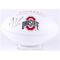 Michael Thomas Signed Ohio State Buckeyes Logo Football (JSA COA)