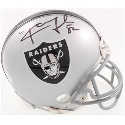 Khalil Mack Signed Raiders Mini-Helmet (JSA COA)
