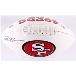 Deion Sanders Signed 49ers Logo Football (JSA COA)