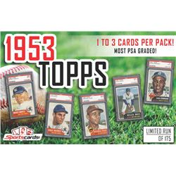 """""""1953 Topps Baseball Pack"""" 1 to 3 CARDS PER PACK! - Mystery Box - MOST PSA GRADED!"""