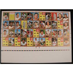 Lot of (2) 1962 Topps Uncut Baseball Card Proof Sheet
