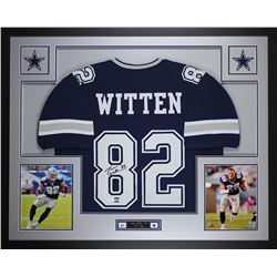 "Jason Witten Signed Cowboys 35"" x 43"" Custom Framed Jersey (JSA COA  Witten Hologram)"