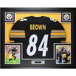 Antonio Brown Signed Steelers 35x43 Custom Framed Jersey (JSA COA)