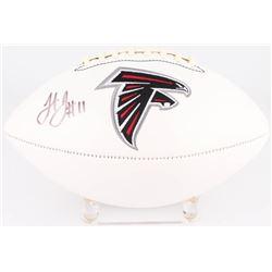 Julio Jones Signed Falcons Logo Football (JSA COA)