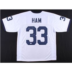 "Jack Ham Signed Penn State Nittany Lions Jersey Inscribed ""CHOF 90"" (JSA COA)"