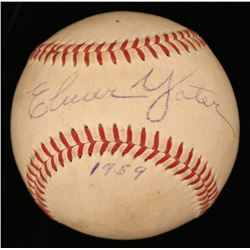 "Elmer Yoter Signed OAL Baseball Inscribed ""1959"" (JSA COA)"