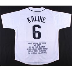 Al Kaline Signed Tigers Career Highlight Stat Jersey (JSA COA)