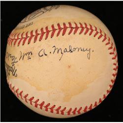 Billy Maloney Signed ONL Baseball (JSA COA)