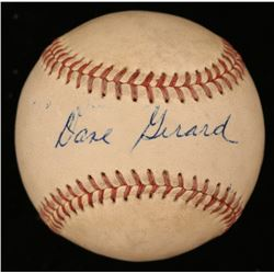 Dave Gerard Signed ONL Baseball (JSA COA)