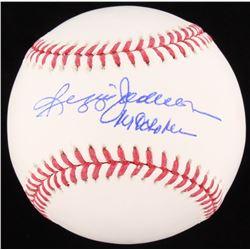 "Reggie Jackson Signed OML Baseball Inscribed ""Mr October"" (JSA COA)"