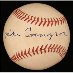 Mike Cvengros Signed ONL Baseball (JSA COA)