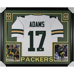 Davante Adams Signed Packers 35x43 Custom Framed Jersey (JSA COA)