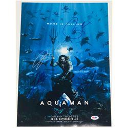"""Aquaman"" 12x18 Photo Signed by (4) with Jason Momoa, James Wan, Patrick Wilson  Yahya Abdul-Mateen"