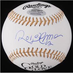 Roberto Alomar Signed Gold Glove Award Baseball (Schwartz COA)