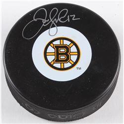 Jarome Iginla Signed Bruins Logo Hockey Puck (AJ's Sports World COA)