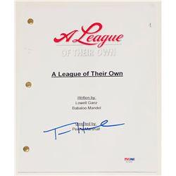 "Tom Hanks Signed ""A League of Their Own"" Full Movie Script (PSA COA)"