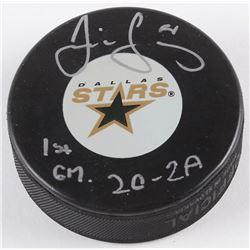 "Jaromir Jagr Signed Stars Logo Hockey Puck Inscribed ""1st GM.""  ""2G-2A"" (Hockey Ink Hologram)"