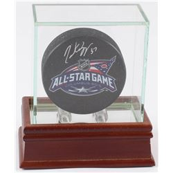 Patrice Bergeron Signed 2015 All-Star Game Logo Hockey Puck with High Quality Display (Bergeron Holo