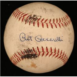 Art Ceccarelli Signed OAL Baseball (JSA COA)