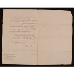 King William IV Signed 8.5x12.5 1830 Document (JSA LOA)