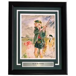 "Leroy Neiman ""Old Duffer"" 16x20 Custom Framed Print Display"