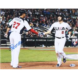 Giancarlo Stanton Signed Team USA 11x14 Photo (Beckett COA)