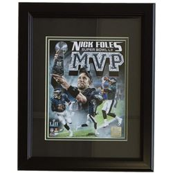 Nick Foles Philadelphia Eagles Super Bowl 52 14x17 Custom Framed Photo Display