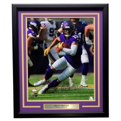Adam Thielen Signed Minnesota Vikings 22x27 Custom Framed Photo Display (JSA COA)