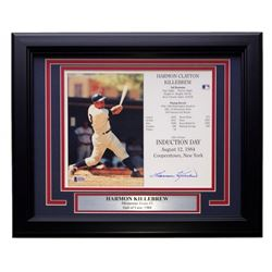 Harmon Killebrew Signed Minnesota Twins 22x27 Custom Framed Career Highlight Stat Card Display (Beck