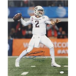 "Johnny Manziel Signed Texas AM Aggies 16x20 Photo Inscribed ""'12 HT"" (JSA COA)"