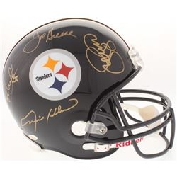 """Steel Curtain"" Steelers Full-Size Helmet Signed by (4) with Joe Greene, Ernie Holmes, L. C. Greenwo"