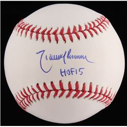 "Randy Johnson Signed OML Baseball Inscribed ""HOF 15"" (JSA COA)"