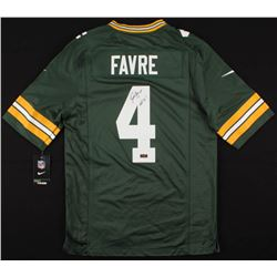 "Brett Favre Signed Green Bay Packers Jersey Inscribed ""HOF 16"" (Radtke COA)"