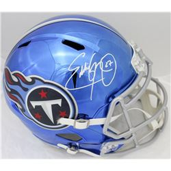 Eddie George Signed Titans Full-Size Chrome Speed Helmet (JSA COA)