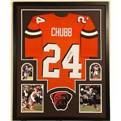 Nick Chubb Signed Browns 34x42 Custom Framed Jersey (JSA COA)