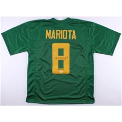 "Marcus Mariota Signed Oregon Ducks Jersey Inscribed ""Heisman '14"" (JSA COA)"