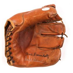 Frank Baumholtz Signed Vintage Custom Engraved Baseball Glove (JSA Hologram)