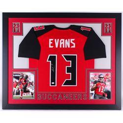 Mike Evans Signed Buccaneers 35x43 Custom Framed Jersey (JSA COA)